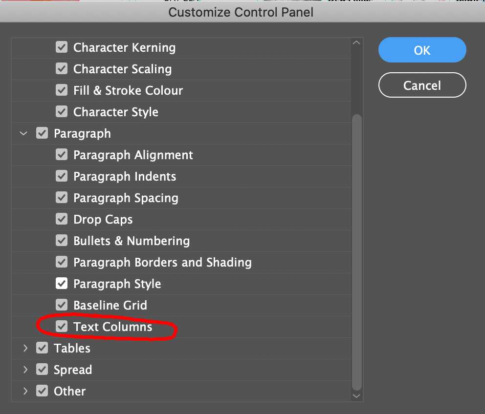 This is at the bottom of the panel menu for the Control Panel