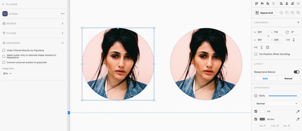 Left Image created using UI Faces + Unsplash