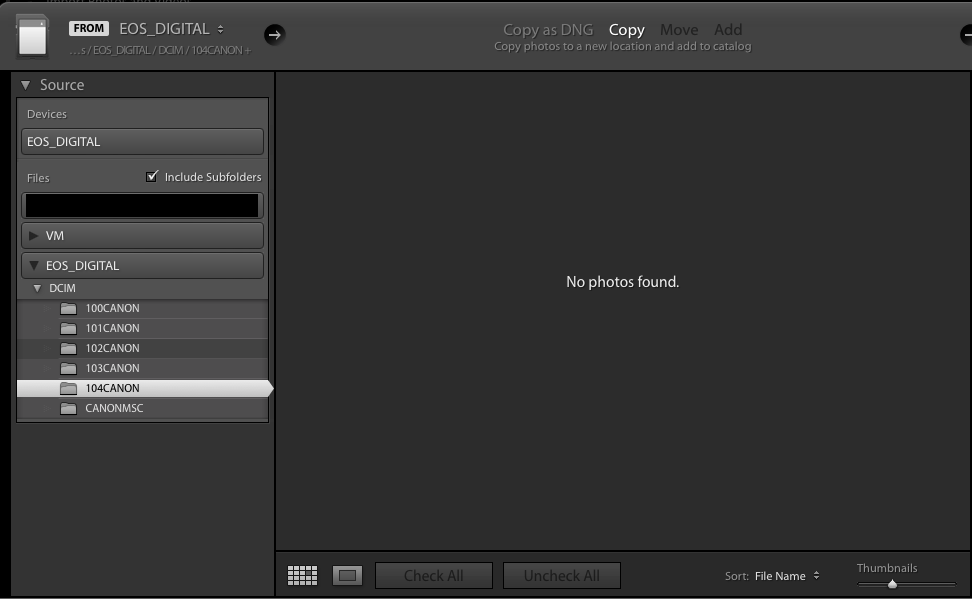 No CR3 raw files are displayed