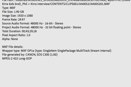 """Video codec listed in metadata as """"sd5b"""""""