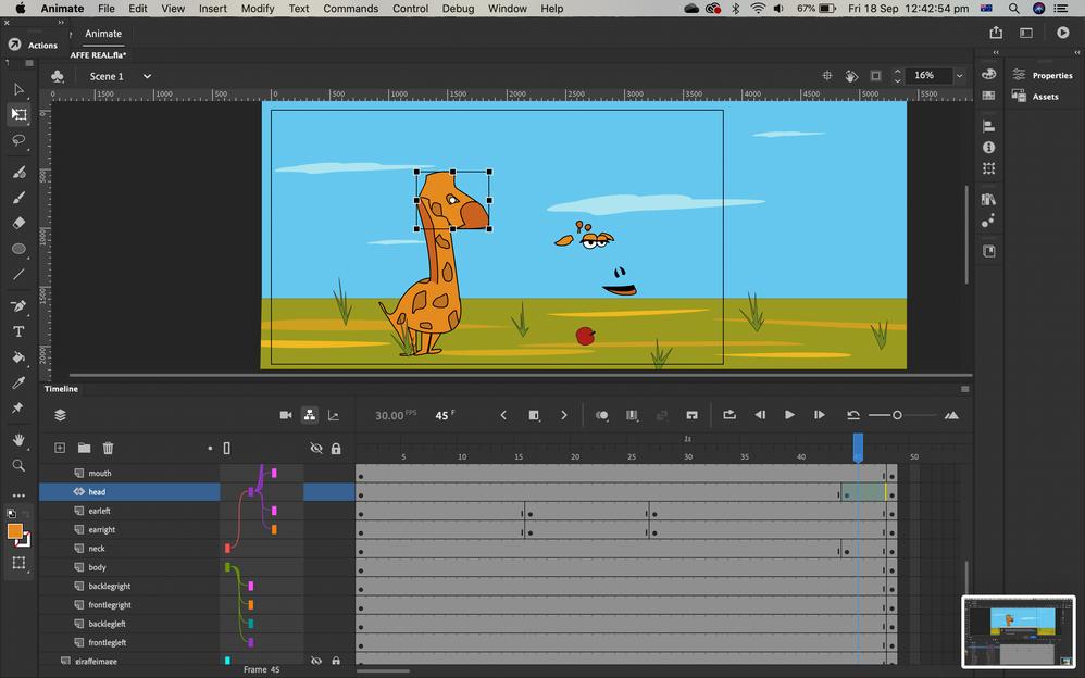 4. giraffe distorts
