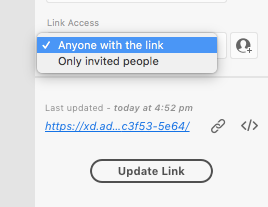 setting link access