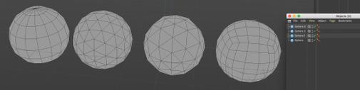 different sphere geometry