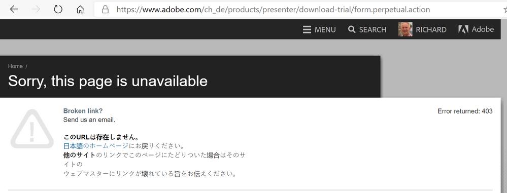 presenter download error.png