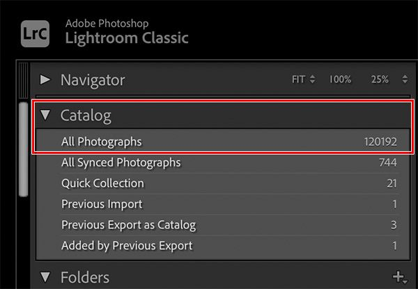 Lightroom Classic 10 Catalog panel.jpg