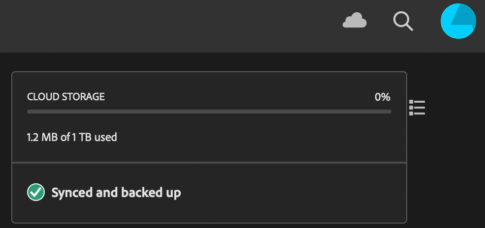 Cloud icon showing cloud storage used and synced.png