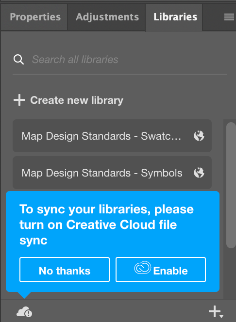 Library panel showing library items not being synced to cloud.png