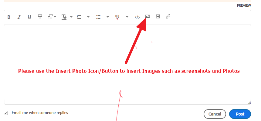 do not use attach file