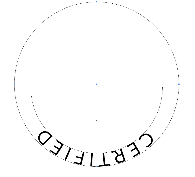 make the new circle for your text below the existing path
