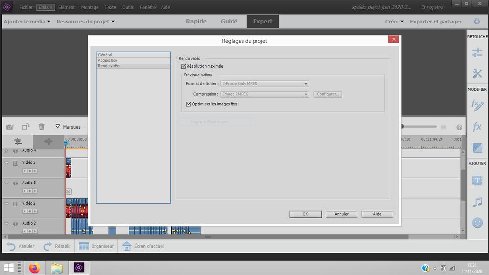 Capture reglage projet (rendu video).PNG