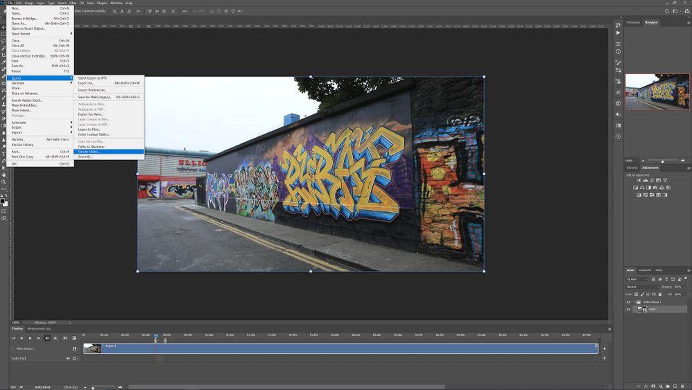 File>Export>Render Video...