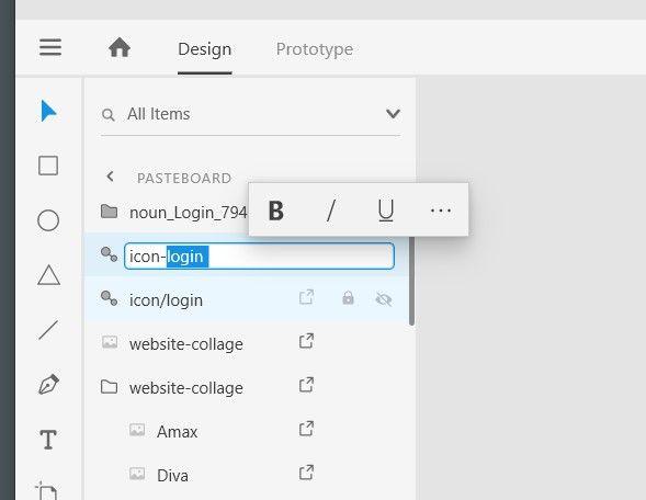 Adobe XD Bug with toolbar on rename.jpg