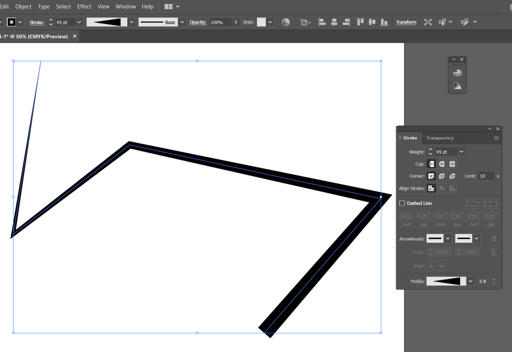 this line is created on tha artboard with your size (420x6000)