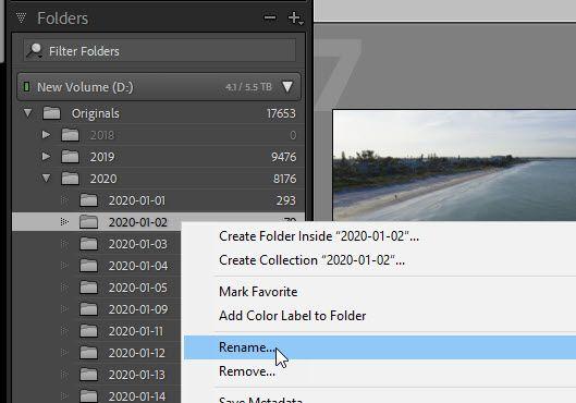 Rename Folder showing full path