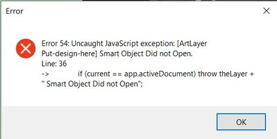 this is the error i get when adding your open smartobject function