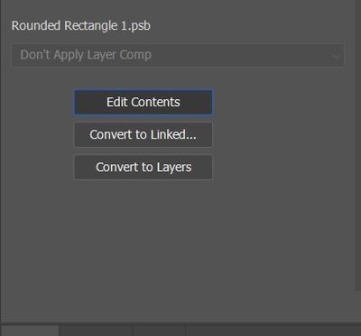 edit contents button not doing anything