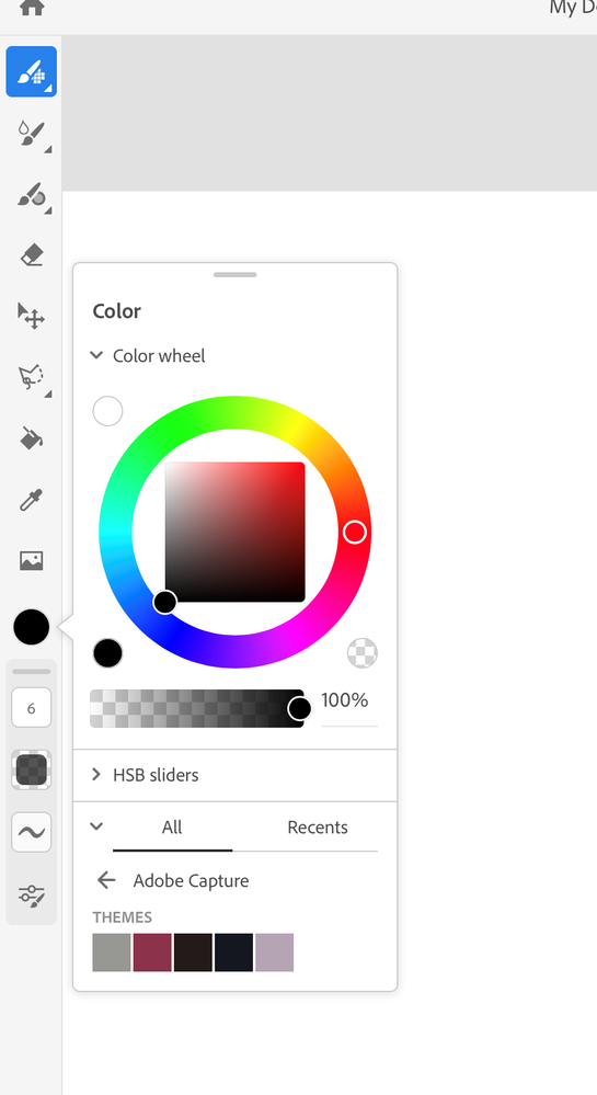 Libraries would only show up here if they've color elements within like themes or swatches.