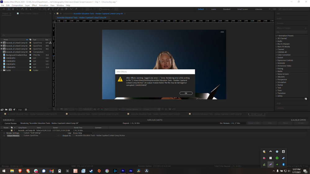 Bug - Premiere Pro Rendering - Output Moduel Failed - Razer Blade Graphics Card.png
