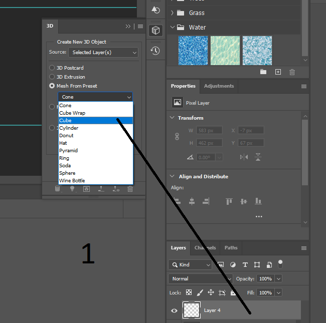 preset box from Photoshop