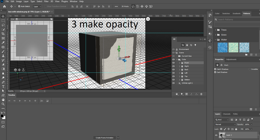 use that shape to make a black and white opacity map for later