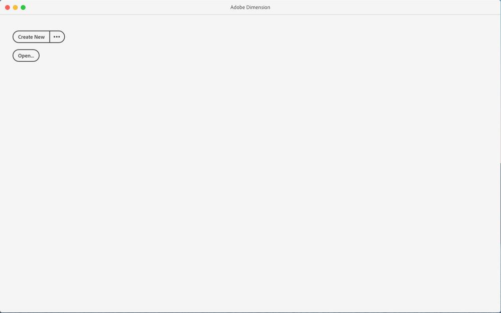 Application start screen