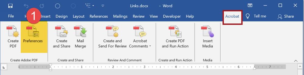 Adobe PDF Maker plug-in  -- The Acrobat Ribbon in MS Word.
