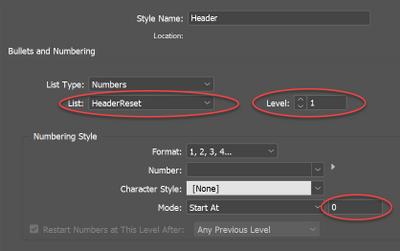 Header style settings
