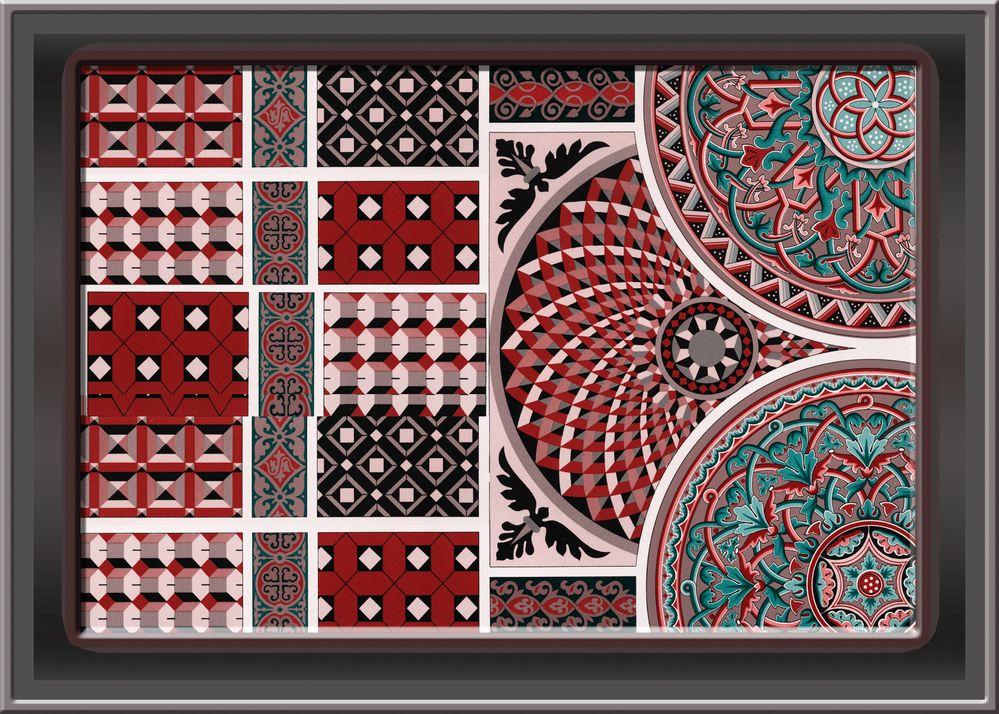 Multi Color Tile Design Ceramic , Wall Decor for interior home decoration, for ceramic tile, wallpaper, textile, background. - Illustration.jpg