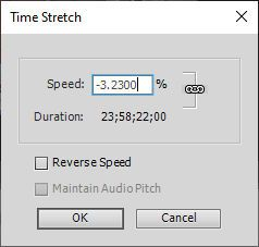 Premiere Elements 2021 Time Stretch can't type 2000 percent.jpg