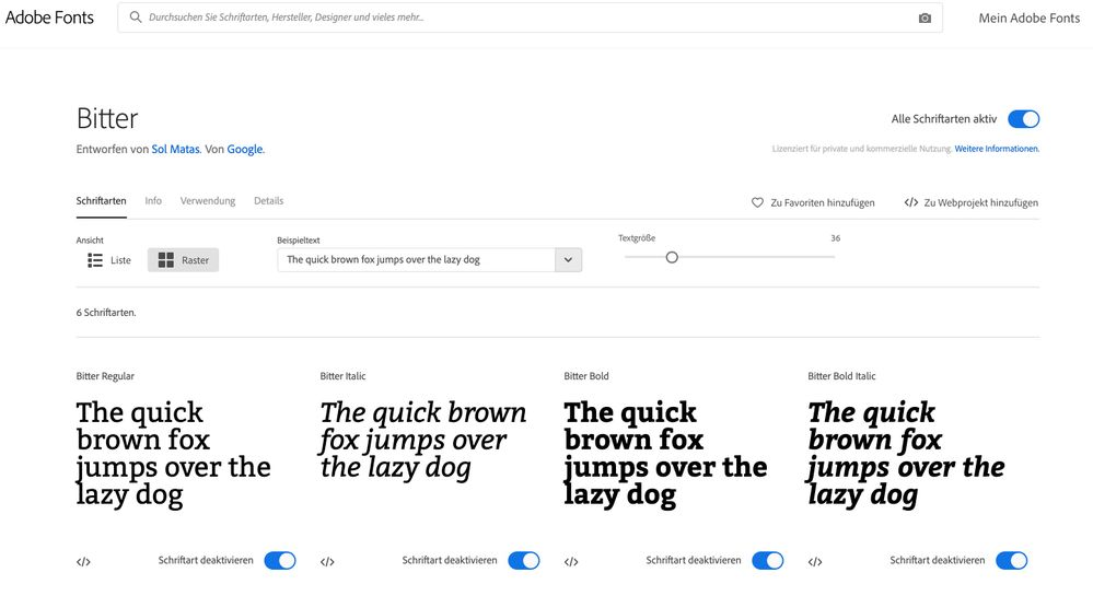 Font is activated on fonts.adobe.com