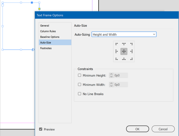 Set the frame's Auto-Size to Width, or Height and Width.