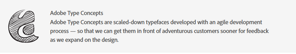 From Adobe.com re: their Concept Fonts.