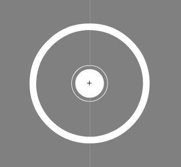 3 separate circles, all shapes, no symbols