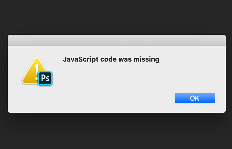 JavaScript Code Was Missing