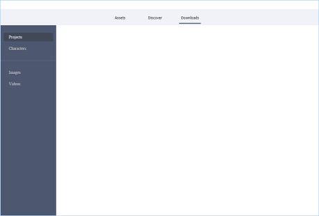 Screenshot of Downloads Tab