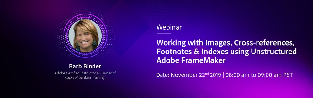 Working with images, cross-references, footnotes & indexes using Adobe Frame Maker 2019 (Unstructured) - Barb Binder (3).jpg