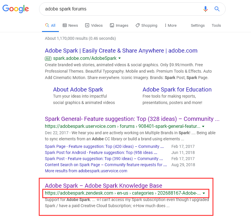 2019-11-22 07_05_45-adobe spark forums - Google Search.png