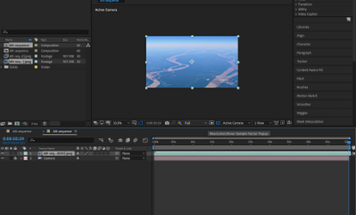 here is the end shot in AE that miss the rest part of the sequence