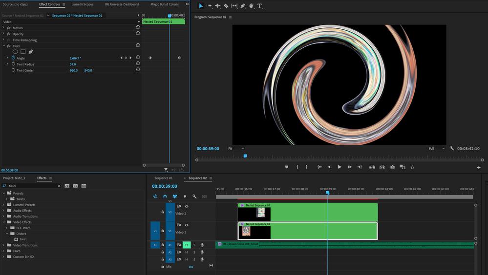 Twirl animation in progress