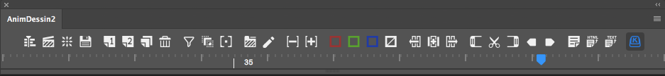 Preview of scrubber in animation tool panel