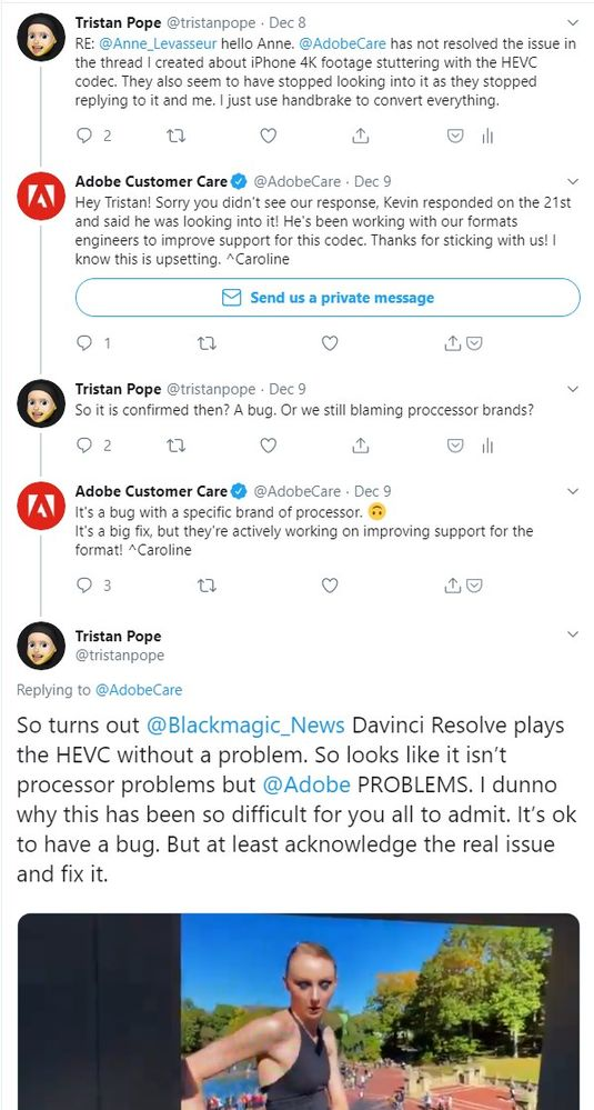 """Caroline is nicer but has now gone with the """"it is processor based"""" approach."""