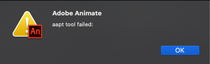 error I get when clicking cancel on box before