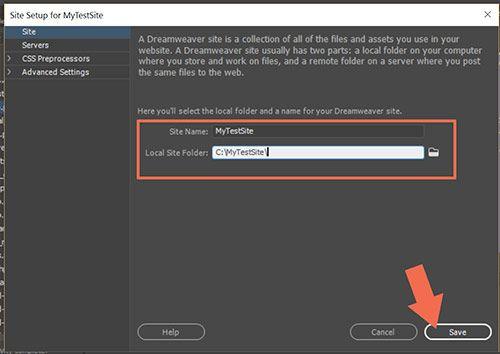 Site > Manage Sites -- Local Site Folder