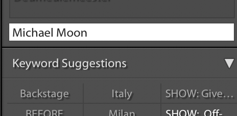 When I type in Michael Moon nothing is suggested.