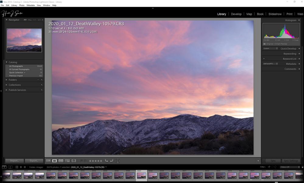 EOS RP File open in LR Adobe Color Profile chosen