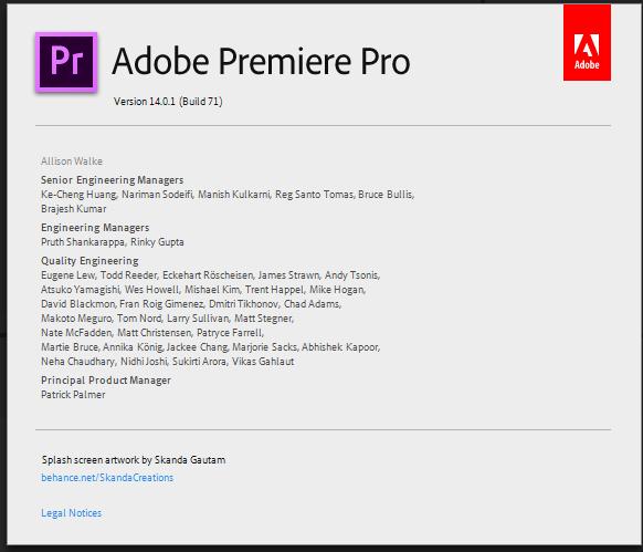 version of Premiere Pro