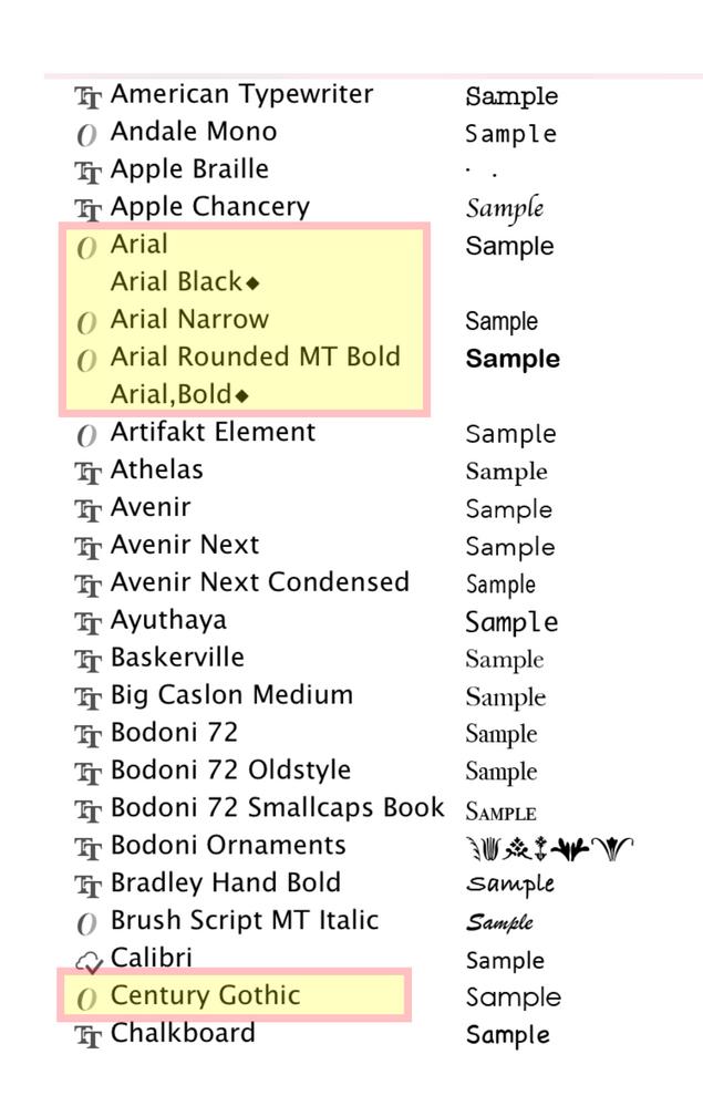 AI snapshot of pull down font menu.png