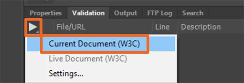 Validate Current Document (W3C)