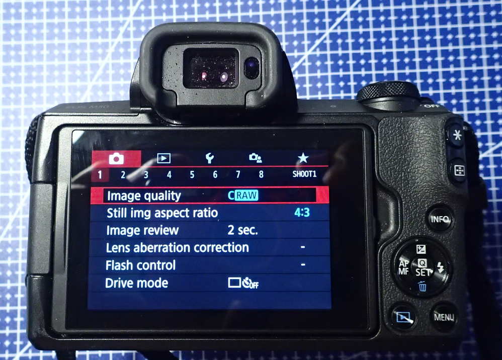 ratio option in Canon M50 (will affect crop fram in LR)