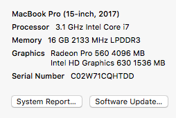 system specs - nothing special